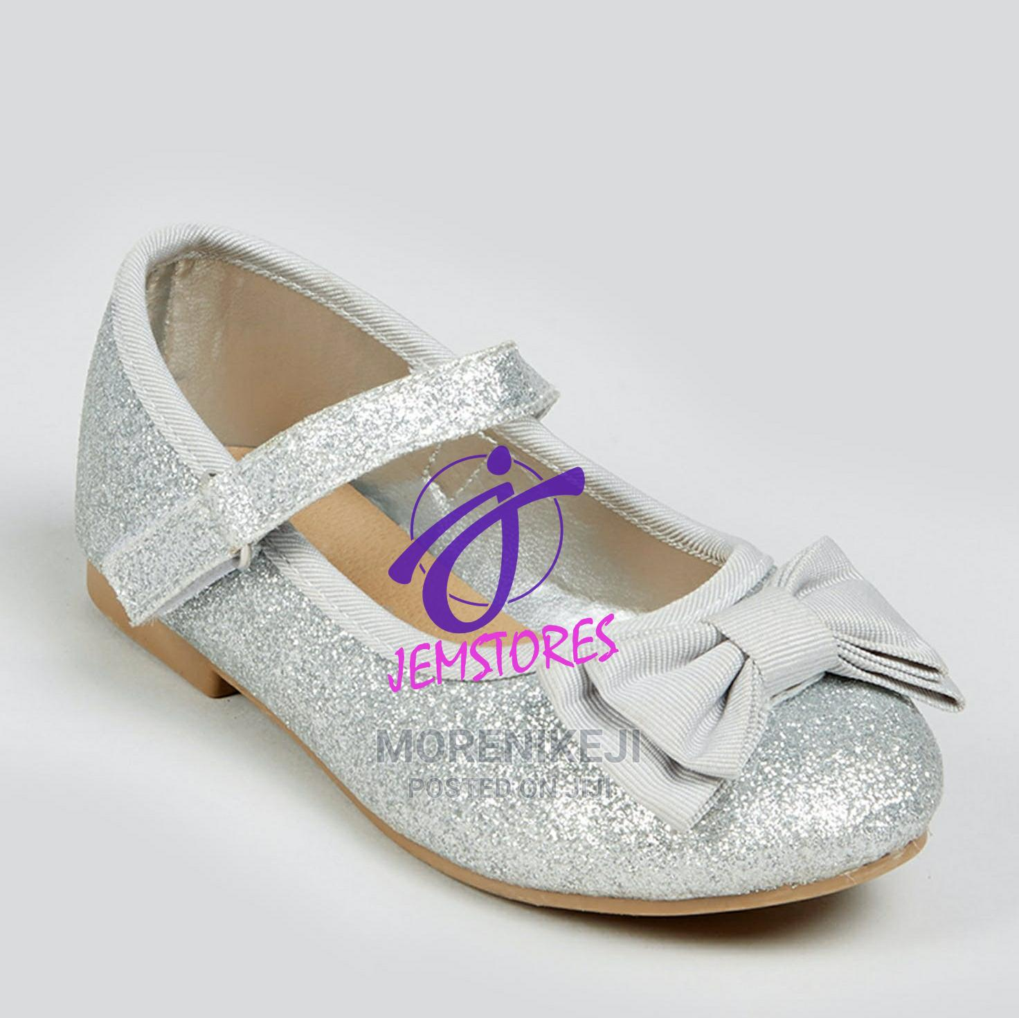 Girls Silver Ballet Flat   Children's Shoes for sale in Abule Egba, Lagos State, Nigeria