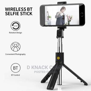 Selfie Stick Integrated Tripod BT 4.0 Wireless Selfie Stick | Accessories for Mobile Phones & Tablets for sale in Lagos State, Ikorodu