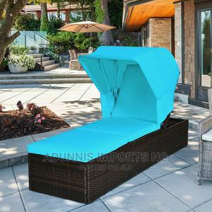 Outdoor Chaise Lounge Chair With Folding Canopy | Camping Gear for sale in Lagos State, Lekki