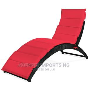 Folding Patio Rattan Portable Lounge Chair Chaise | Camping Gear for sale in Lagos State, Lekki