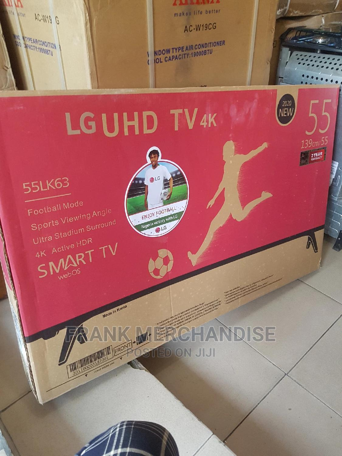 LG TV 55inches Smart TV 4kuhd Model 2020 | TV & DVD Equipment for sale in Ojo, Lagos State, Nigeria
