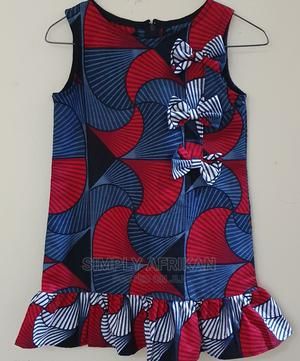 Ankara Sleeveless Dress With Frilly Detail | Children's Clothing for sale in Lagos State, Lekki