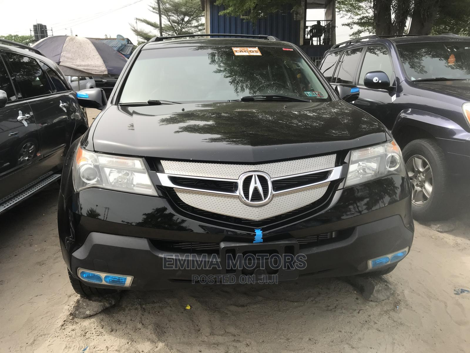Acura MDX 2008 SUV 4dr AWD (3.7 6cyl 5A) Black | Cars for sale in Apapa, Lagos State, Nigeria