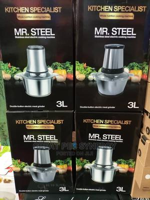 3 Liters Mr Steel Food Processor/Yam Pounder | Kitchen Appliances for sale in Abuja (FCT) State, Dei-Dei