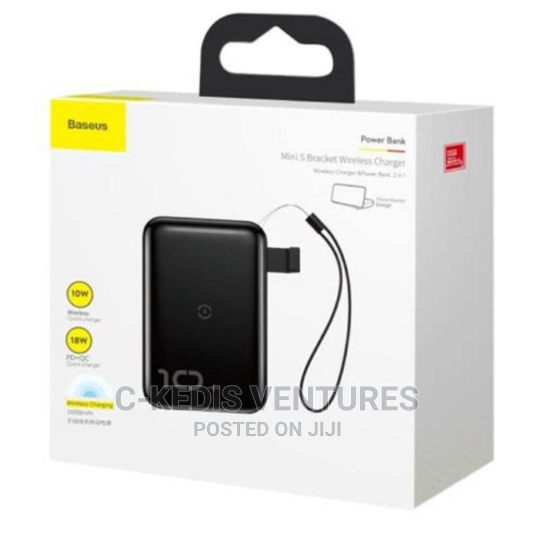 Baseus 10000mah Mini S Bracket Wireless Power Bank   Accessories for Mobile Phones & Tablets for sale in Ikeja, Lagos State, Nigeria