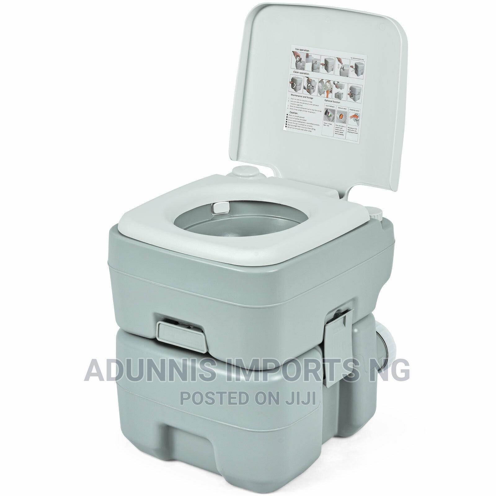 5.3 Gallon 20L Outdoor Portable Toilet With Level Indicator