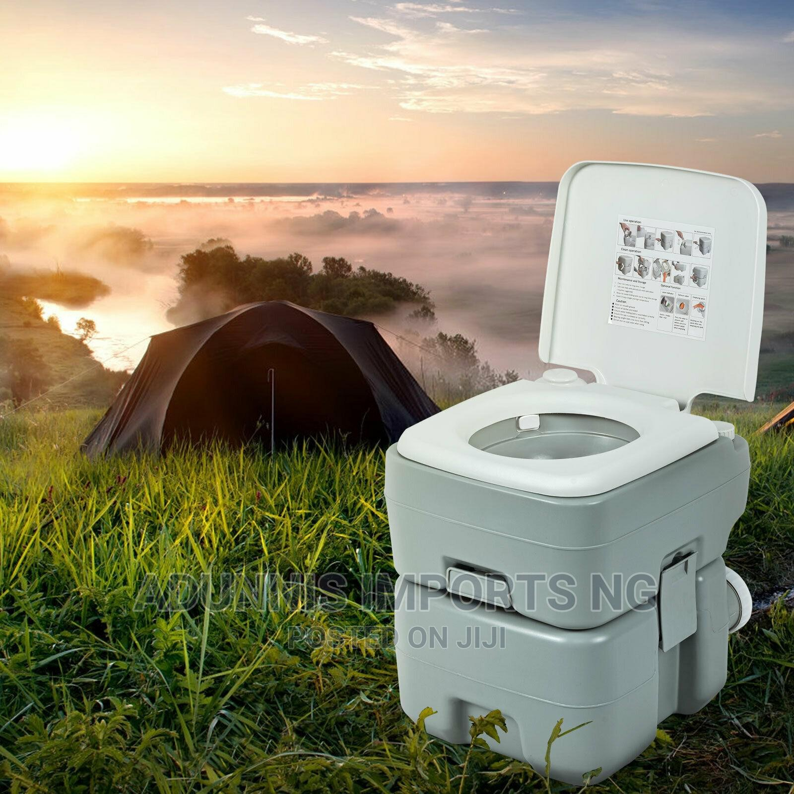 5.3 Gallon 20L Outdoor Portable Toilet With Level Indicator | Camping Gear for sale in Lekki, Lagos State, Nigeria