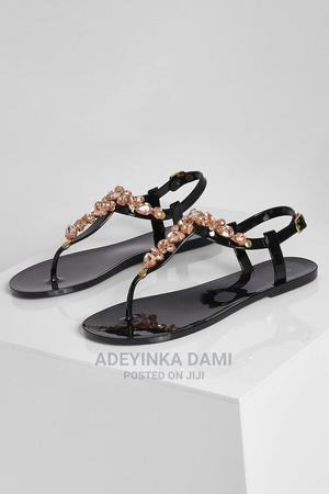 Diamante Jelly Sandals Black | Shoes for sale in Lagos State, Lekki