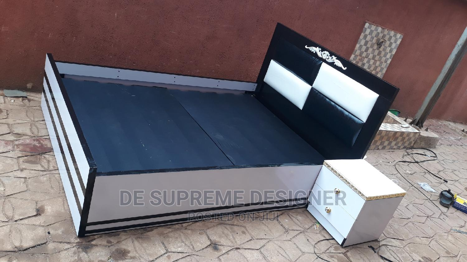 Black and White Bed Frame | Furniture for sale in Onitsha, Anambra State, Nigeria