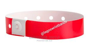 100pcs Red Vinyl/Plastic Wristbands   Manufacturing Services for sale in Lagos State, Yaba