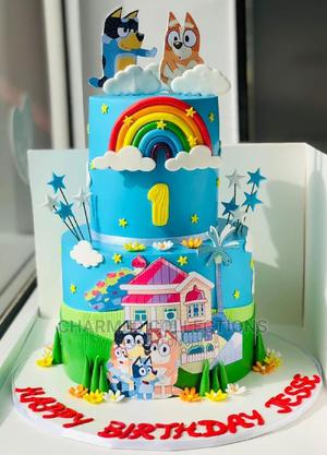 Birthday Cake 2tier Fondant | Party, Catering & Event Services for sale in Lagos State, Agboyi/Ketu