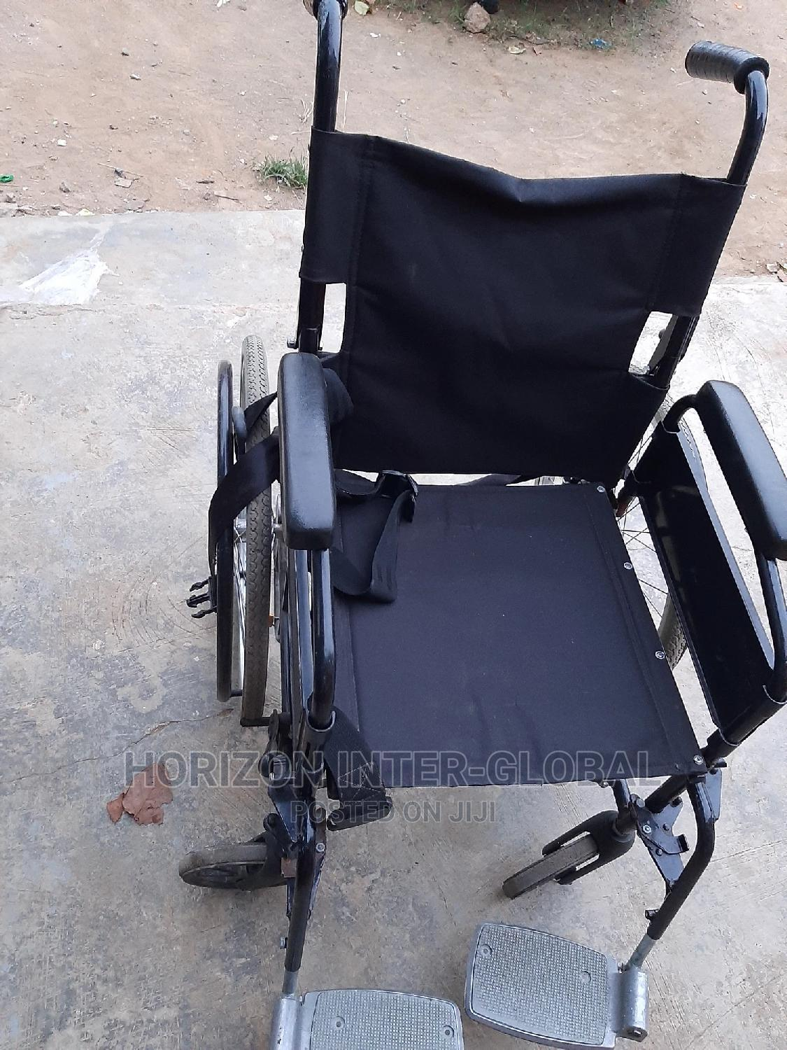 Uni-lite Collapsible/Foldable Wheelchair | Medical Supplies & Equipment for sale in Isolo, Lagos State, Nigeria