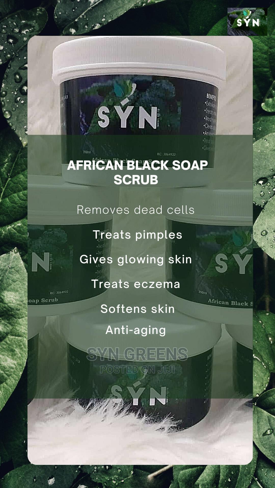 Syn African Black Soap Scrub | Bath & Body for sale in Apo District, Abuja (FCT) State, Nigeria