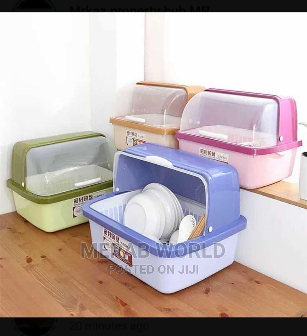 Plastic Dish Rack With Cover