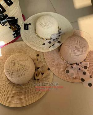 Letters Embroidery Straw Hat Large Summer Beach Sun Hat   Clothing Accessories for sale in Lagos State, Alimosho