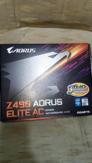 Z490 AORUS Elite AC With Core I7 10th Gen Processor   Computer Hardware for sale in Lagos State, Ikeja