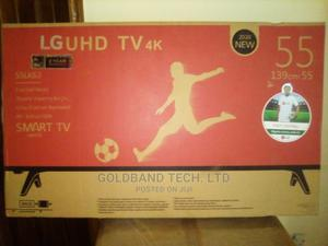LG 55inches Smart Android Internet TV With Stand | TV & DVD Equipment for sale in Lagos State, Yaba