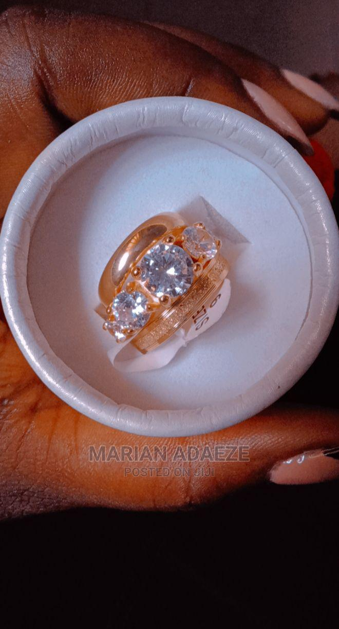 Gold Plated Wedding Ring Set