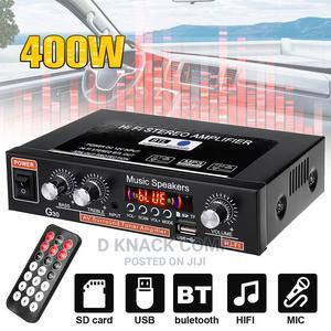 400W 2CH Mini Hifi Digital Audio Stereo Amplifier Bass BT/FM   Audio & Music Equipment for sale in Lagos State, Ikotun/Igando