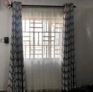Gray and Silver Curtain With Ring Holes | Home Accessories for sale in Delta State, Oshimili North