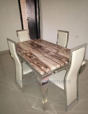 Marble. Dinning Table and 4 Chairs | Furniture for sale in Lagos State, Amuwo-Odofin