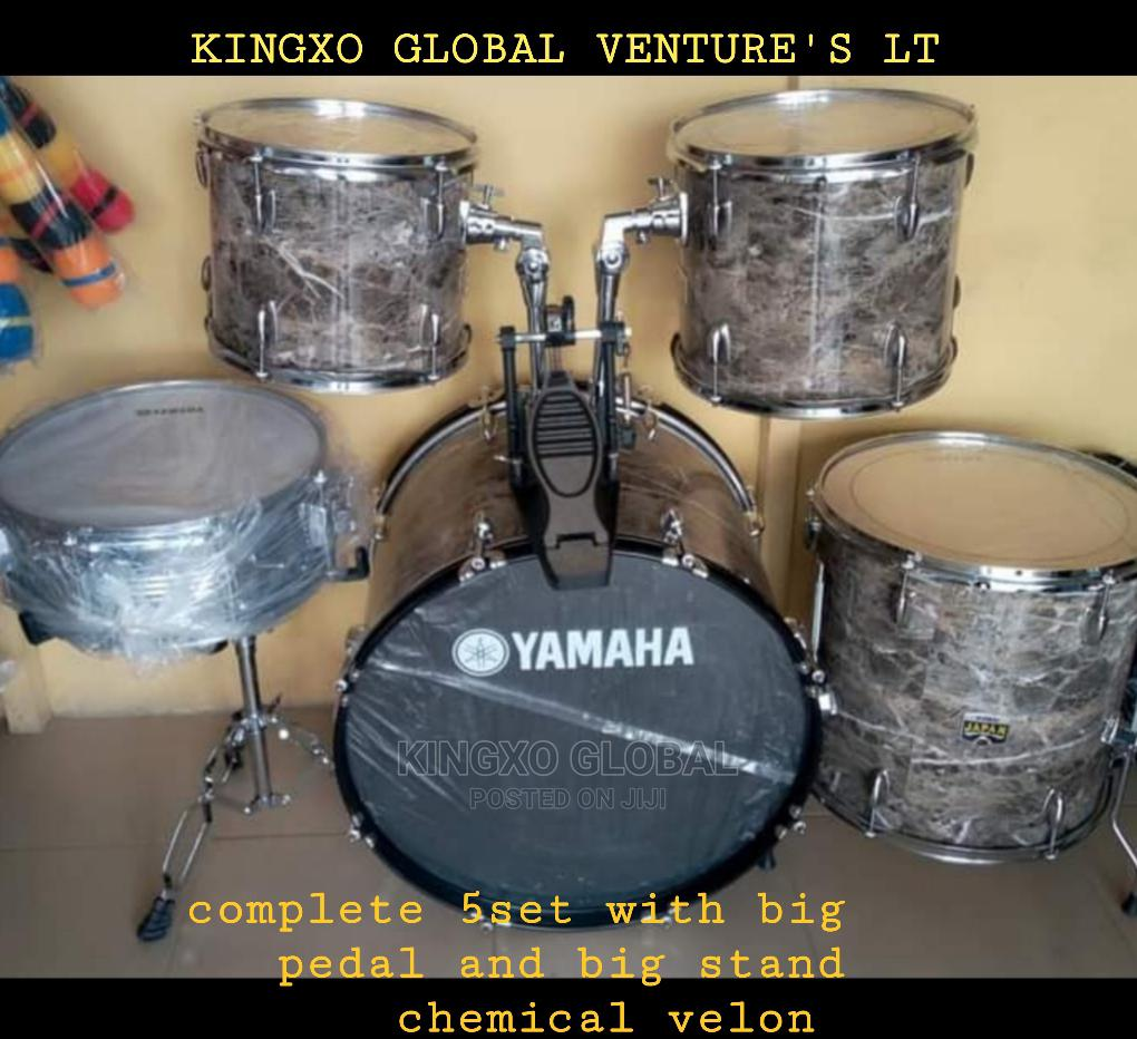 Yamaha 5sets Drum With Cymbal and Hi-Hat and Stand