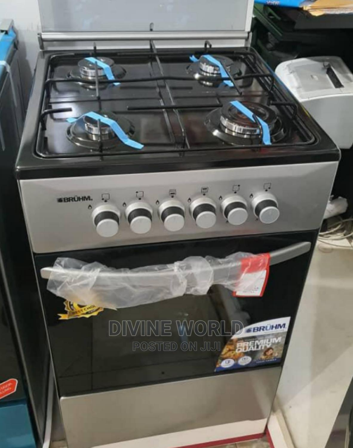 Brand New Bruhm 4 Burners Standing Gas With Oven Blue Flame