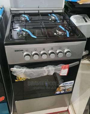 Brand New Bruhm 4 Burners Standing Gas With Oven Blue Flame | Kitchen Appliances for sale in Lagos State, Ojo