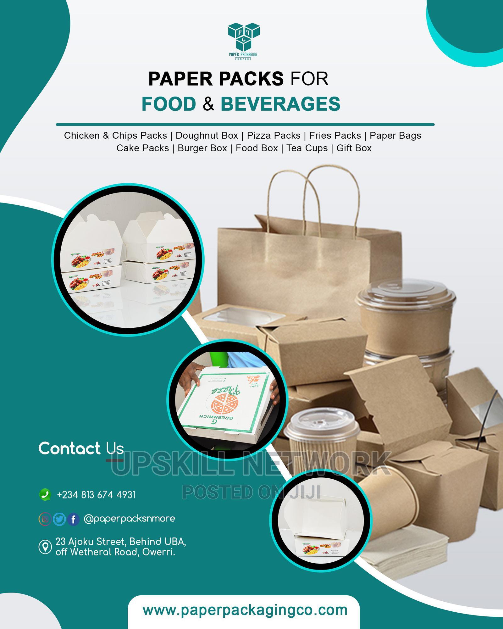 Paper Packaging: Foodbox, Pizza Carton, Paper Cups