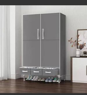 2 Column Mobile Steel Wardrobe With 3 Draw   Furniture for sale in Oyo State, Ido