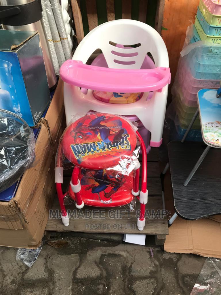 Pink White Kiddies Chair