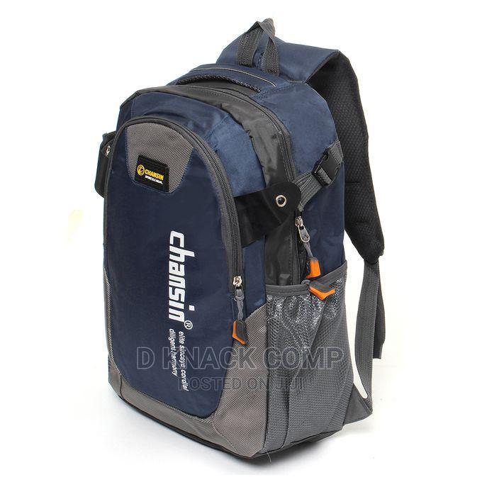 Waterproof School Bag Travel Backpack - Navy Blue