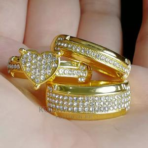 Gold Bridal Ring Set-3pcs   Wedding Wear & Accessories for sale in Oyo State, Ibadan