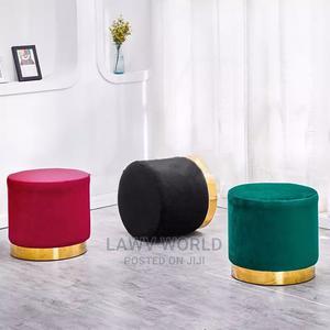 Gold Platted Cushion Stool   Furniture for sale in Lagos State, Lagos Island (Eko)