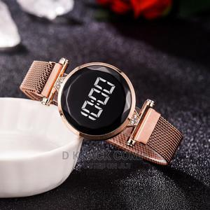 Luxury LED Women Magnetic Bracelet Watches Rose Gold Digital | Watches for sale in Lagos State, Alimosho