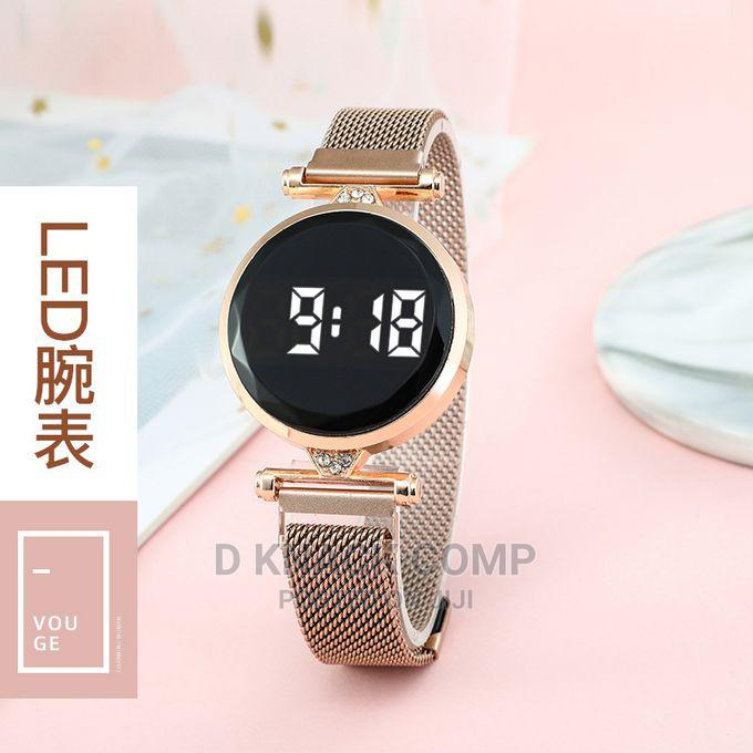 Luxury LED Women Magnetic Bracelet Watches Rose Gold Digital | Watches for sale in Alimosho, Lagos State, Nigeria