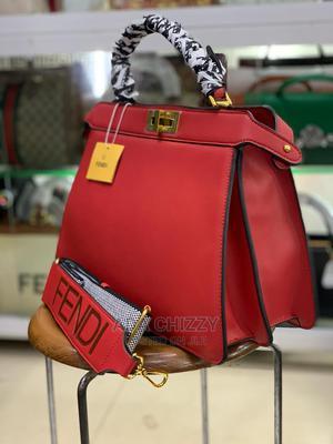 New Original Female Red Fendi Handbag | Bags for sale in Lagos State, Isolo