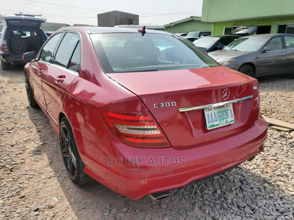 Mercedes-Benz C300 2011 Red | Cars for sale in Agege, Lagos State, Nigeria