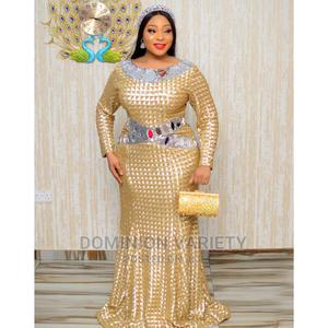 Turkey Design Mirror Dinner Gown Available Sizes 44 to 52 | Clothing for sale in Lagos State, Amuwo-Odofin