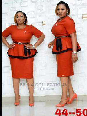 Beautiful Maroon Colour Turkey Ladies Skirt and Blouse   Clothing for sale in Lagos State, Isolo