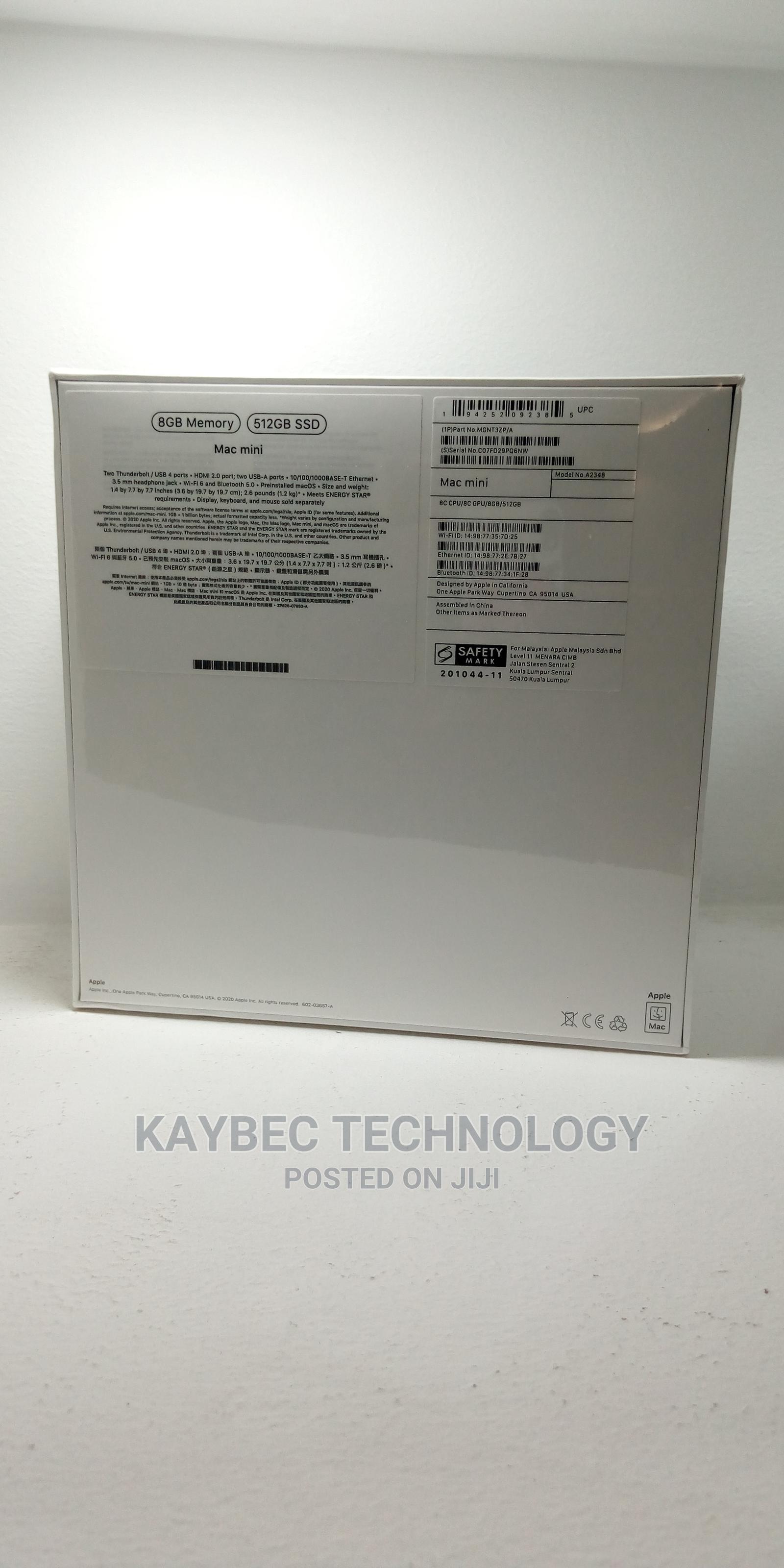 New Desktop Computer Apple Mac Mini 8GB Intel Core M SSD 512GB | Laptops & Computers for sale in Ikeja, Lagos State, Nigeria