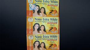 Nano Extra White Natural Papaya Carrot Soap   Bath & Body for sale in Lagos State, Ikotun/Igando