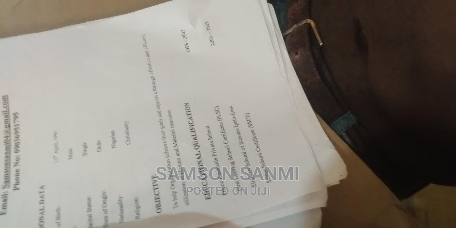 Hotel CV | Hotel CVs for sale in Oriade, Osun State, Nigeria
