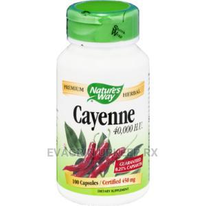 Nature's Way Cayenne Pepper 40000HU 450mg 100capsules | Vitamins & Supplements for sale in Enugu State, Enugu