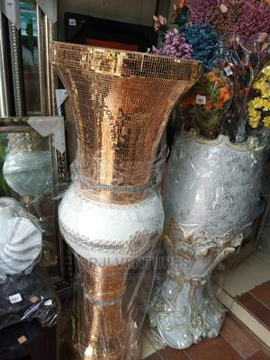 Golden Colour Ceramics Flower Vase | Home Accessories for sale in Lagos State, Agege