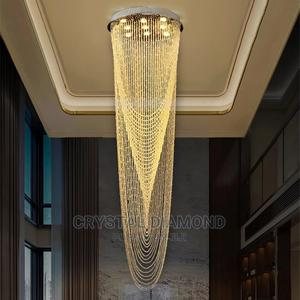 Luxury Modern Hanging Chandelier Flush Mount Led Crystal   Home Accessories for sale in Lagos State, Ajah
