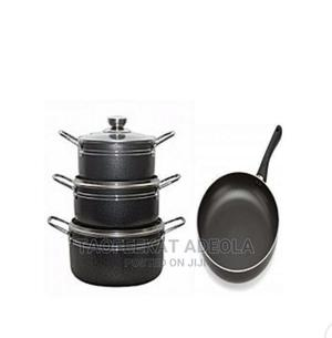 Master Chef 3 Sets Non Stick Cooking Pot With Fry Pan | Kitchen & Dining for sale in Lagos State, Lagos Island (Eko)