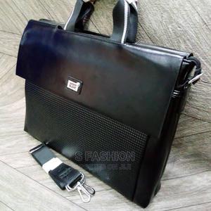 Montblanc Men'S Shiny Black Top Handle Twist Handbag   Bags for sale in Lagos State, Lekki