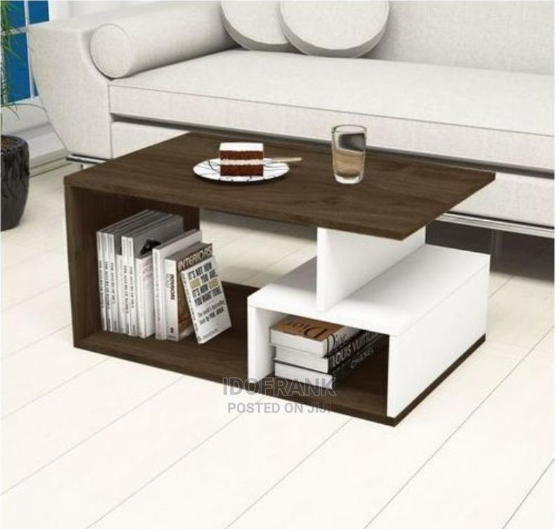 Custom Mini Center Table With Storage Cabinet