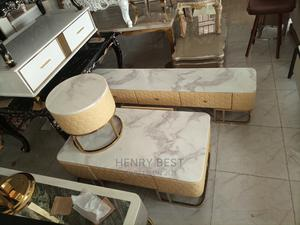 Imported Classic Tv Shelf and With Centre Table and Stool   Furniture for sale in Lagos State, Maryland